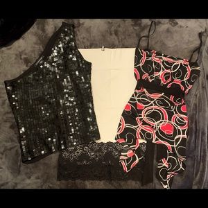2 Super Cute Tops & Skirt. BeBe/52 Wknds. Size M